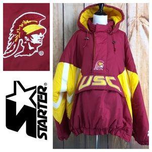 ⭐️Vintage 90s STARTER USC TROJANS jacket size XXL